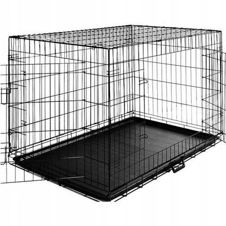 Duża klatka metalowa kojec dla psów 61x42x49cm