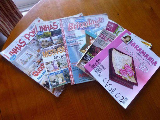 Revistas ponto cruz e bricolage