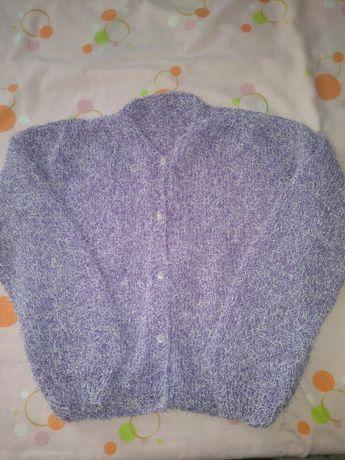 Casaco de lã feito à mão