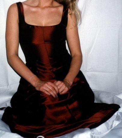Sukienka,suknia wieczorowa z tafty TROLL rozm. M