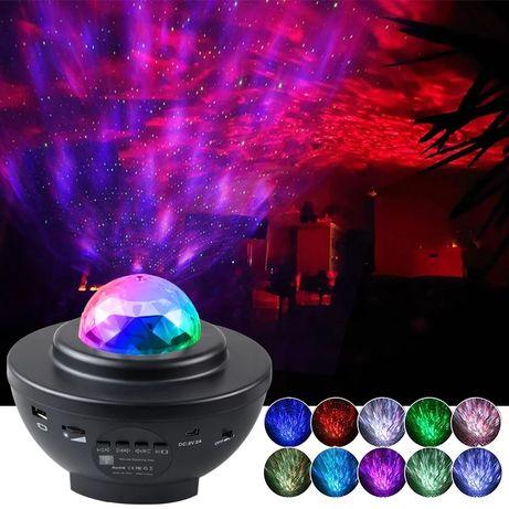 Projektor gwiazd z głośnikiem Bluetooth