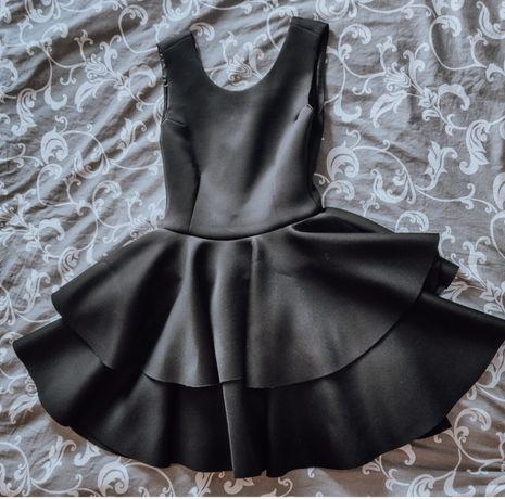 Sukienka piankowa czarna 36