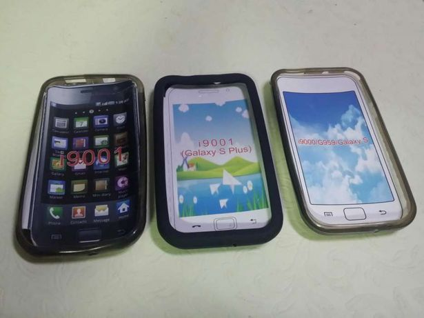 Capa/bolsa gel Samsung S / S plus ; i9000 / i9001