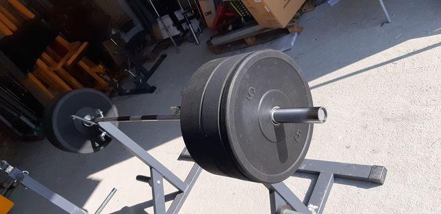 Zestaw Gryf Olimpijski 220cm 20kg ,obciazenia 80kg