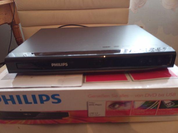 Odtwarzacz DVD Philips DVVP2852, usb, divix, praktycznie nieuzywany