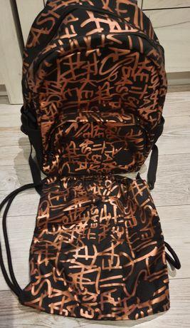 Nowy bez metki plecak szkolny 4F dla dziewczynki plus worek gratis