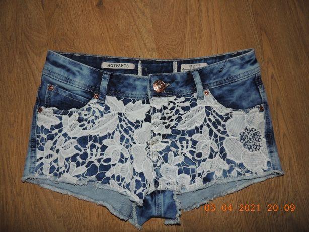джинсовые шорты 8-12р. джинсові шорти с ажуром ажурные