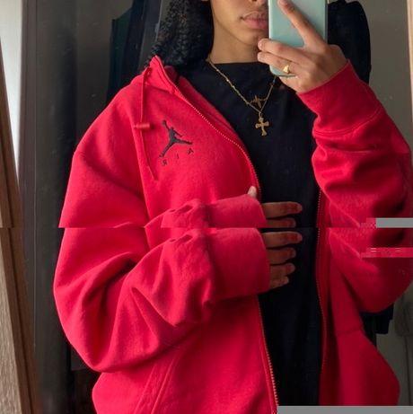 Casaco/Zip up hoodie JORDAN vermelho