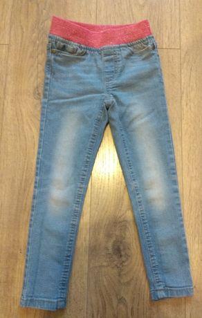 Jegginsy dżinsy spodnie rurki 104 cm