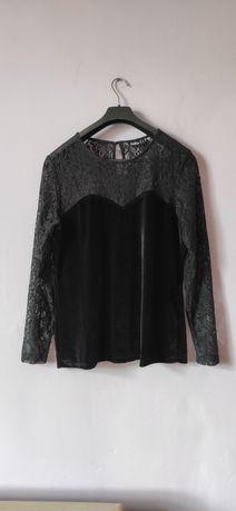 Elegancka czarna bluzka rozmiar 44 / 46 2xl 3xl plus size