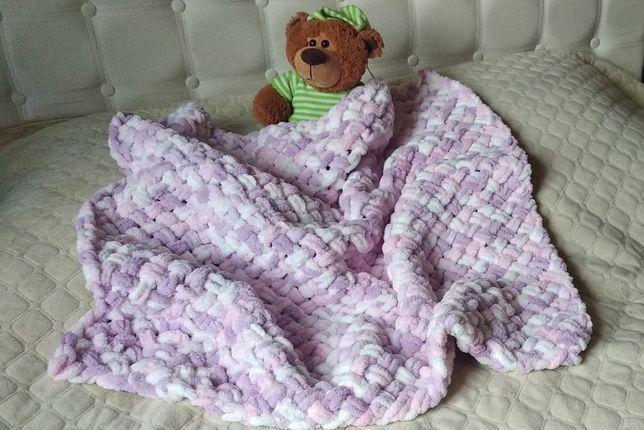Плед Puffi Alize, покривало, одеяло, пряжа Пуффи Алізе
