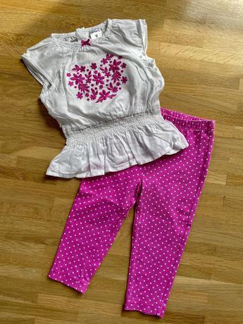 Komplet Carters bluzka + spodnie dla dziewczynki rozmiar 74