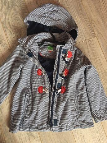 Kurtka płaszczyk z kapturem John Lewis 4-5 dla dziewczynki 110 116