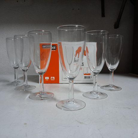 6 copos Arcopal champanhe/aperitivo novos