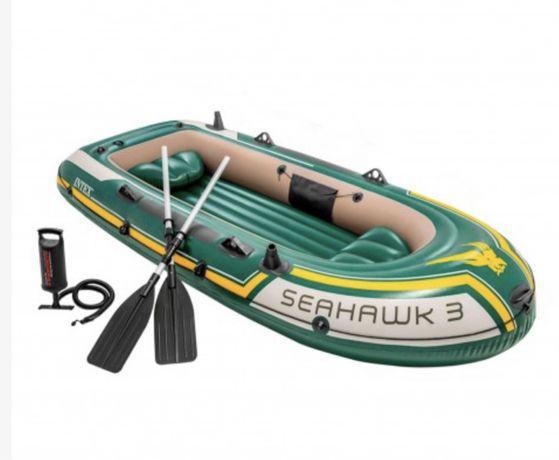 Barco insuflavel Intex seahawk 3 com remos