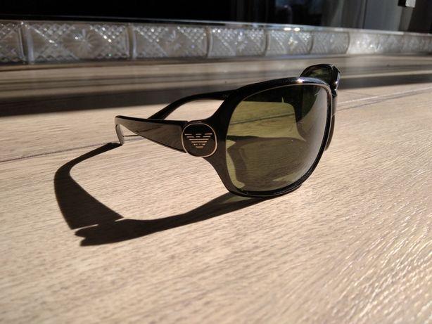 Okulary przeciwsłoneczne Armani, Made in Italy, damskie, czarne, duże
