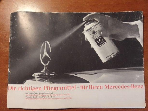 Panfleto Mercedes Benz produtos de limpeza em Alemão
