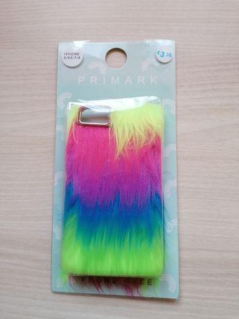WYPRZEDAŻ PRIMARK nowe etui iPhone 6 6S 7 8 futrzane kolorowe futerko