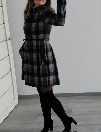Теплое фирменное шерстяное пальто Beefrre