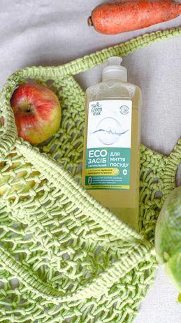 Экосредство , концентрат, для мытья посуды green max, гипоаллергенное
