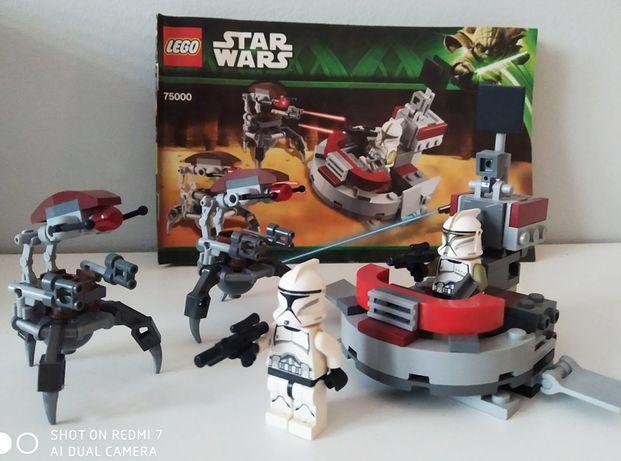 LEGO STAR WARS Gwiezdne Wojny zestaw Klony vs Droideki 75000