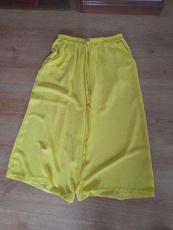 Calças  largas amarelo
