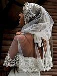 Ниспадающий платок-капюшон для посещения храма на заказ любая модель