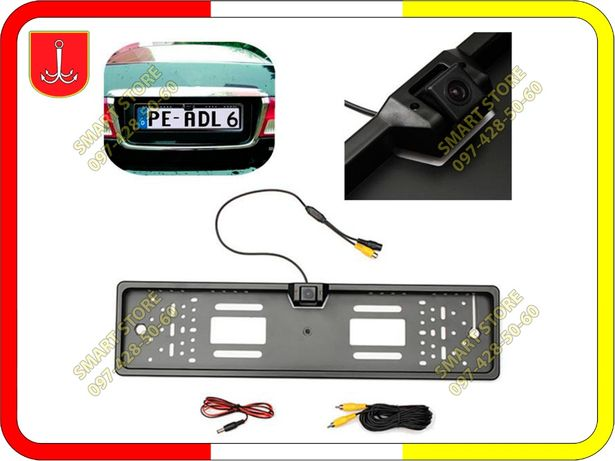 Камера заднего вида c подсветкой в рамке автомобильного номера