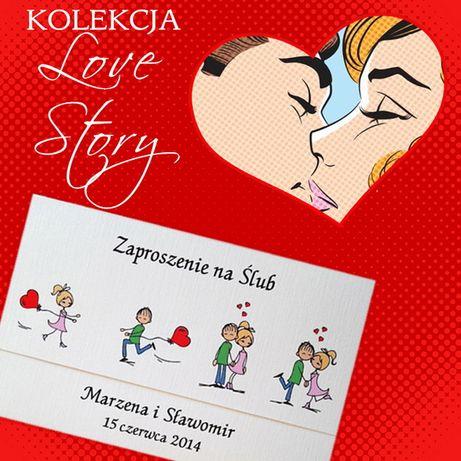 LOVE STORY Zaproszenia ŚLUBNE / KamiArt / ŚLUB, wesele