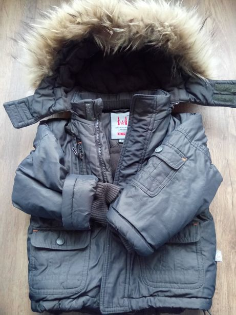 Куртка R&M на флисе 1-2года зима