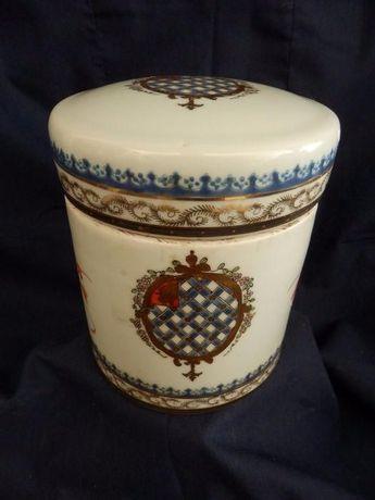 Pote Chá Chinês em Cerâmica de Exportação com Brazão
