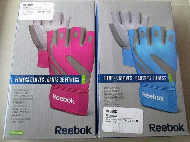 Nowe Skórzane Rękawiczki Fitness Reebok Na Siłownie Treningowe Skóra !