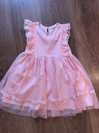 Продаётся платье персикового цвета (116 см и 110 см)