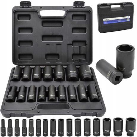 Nasadki udarowe klucze nasadowe 1/2'' 10-32mm 16el [KLU120]