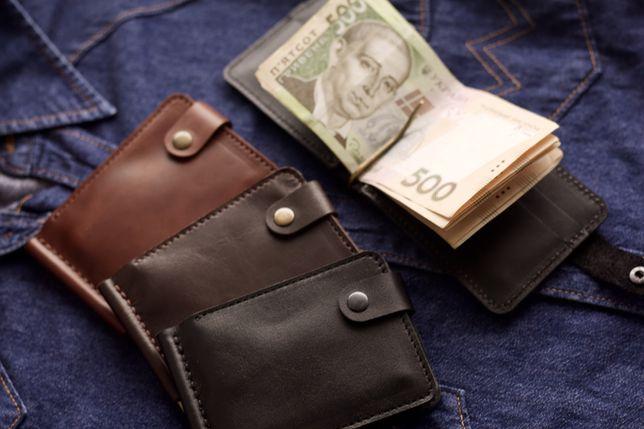 Зажим для денег/шкіряний зажим/прижим/мини кошелек/мужской кошелек
