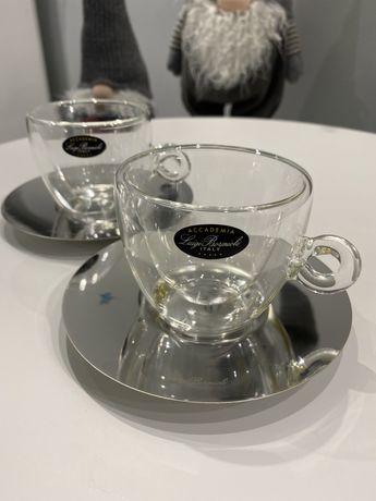 Чашки с блюдцем LUIGI BORMIOLI (Италия). 165 мл, 2шт/уп