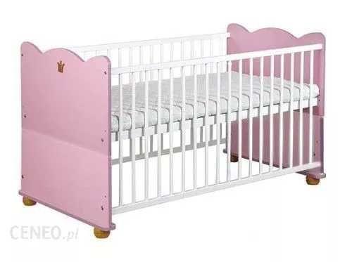Łóżeczko dla dziewczynki 3 stopniowe 140x70 z materacem