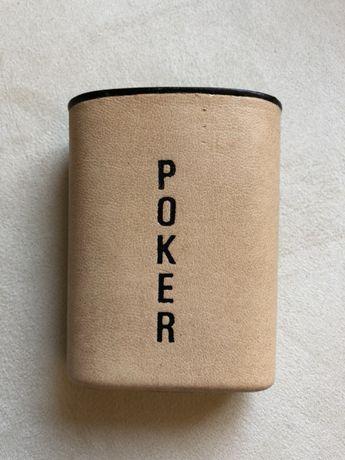 Copo de Poker em Couro