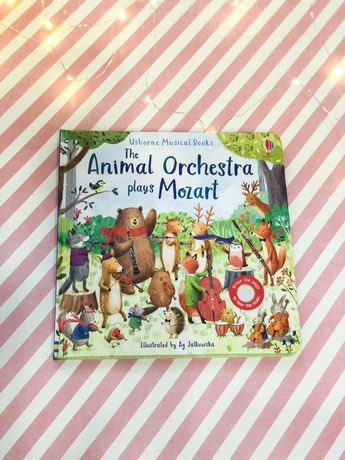 The Animal Orchestra plays Mozart ,Usborne,книга -игрушка музыкальна