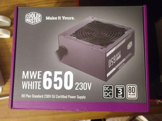 Продам новый БП Блок CoolerMaster 650 W MWE White (MPE-6501-ACABW-EU)
