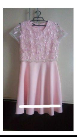 Хорошенькое платье пудра 46 размер