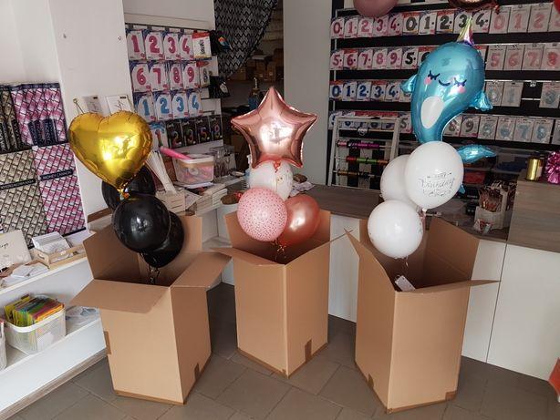 Pudło balonów na prezent, balony z helem_SKLEP_