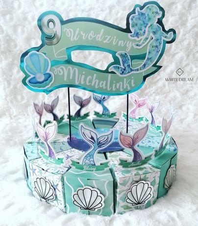 Tort z papieru, prezent dla gości/dzieci na urodziny, do przedszkola