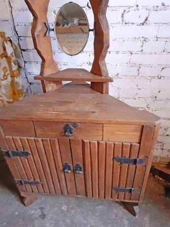 Toaletka vintage retro drewniana