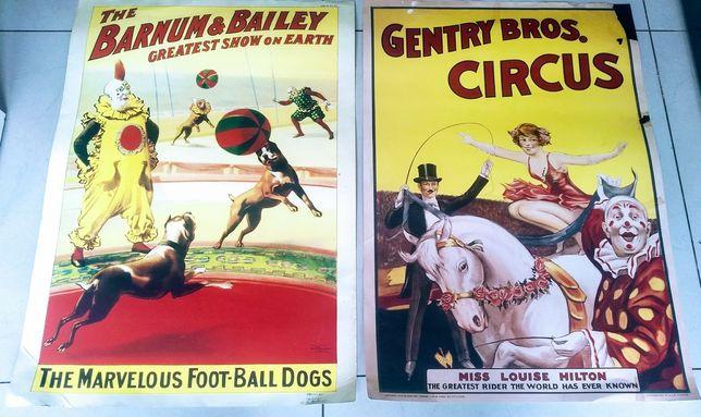 Plakaty cyrkowe stare, komplet.
