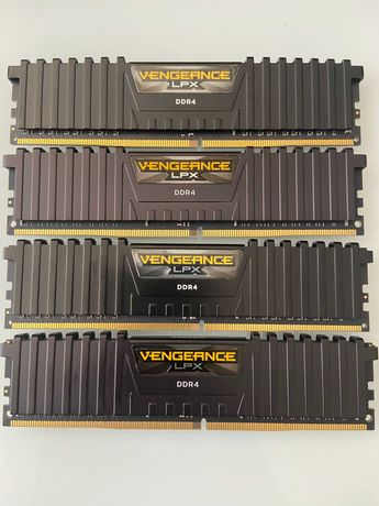 4x Memória RAM Corsair Vengeance LPX 8GB DDR4-3200MHz CL16 Preta