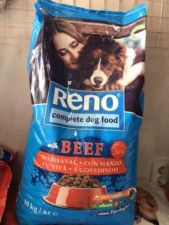 Полноценный корм Reno для взрослых собак с говядиной, 10 кг,