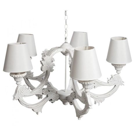Żyrandol Belldeco Romantic 4 Prowansalski biały