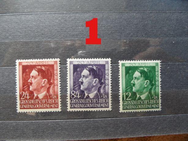 znaczki pocztowe czyste gg hitler zestaw seria