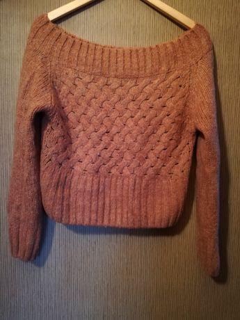 sweter | rudy | pomarańczowy | ciepły | rozmiar uniwersalny | nowy